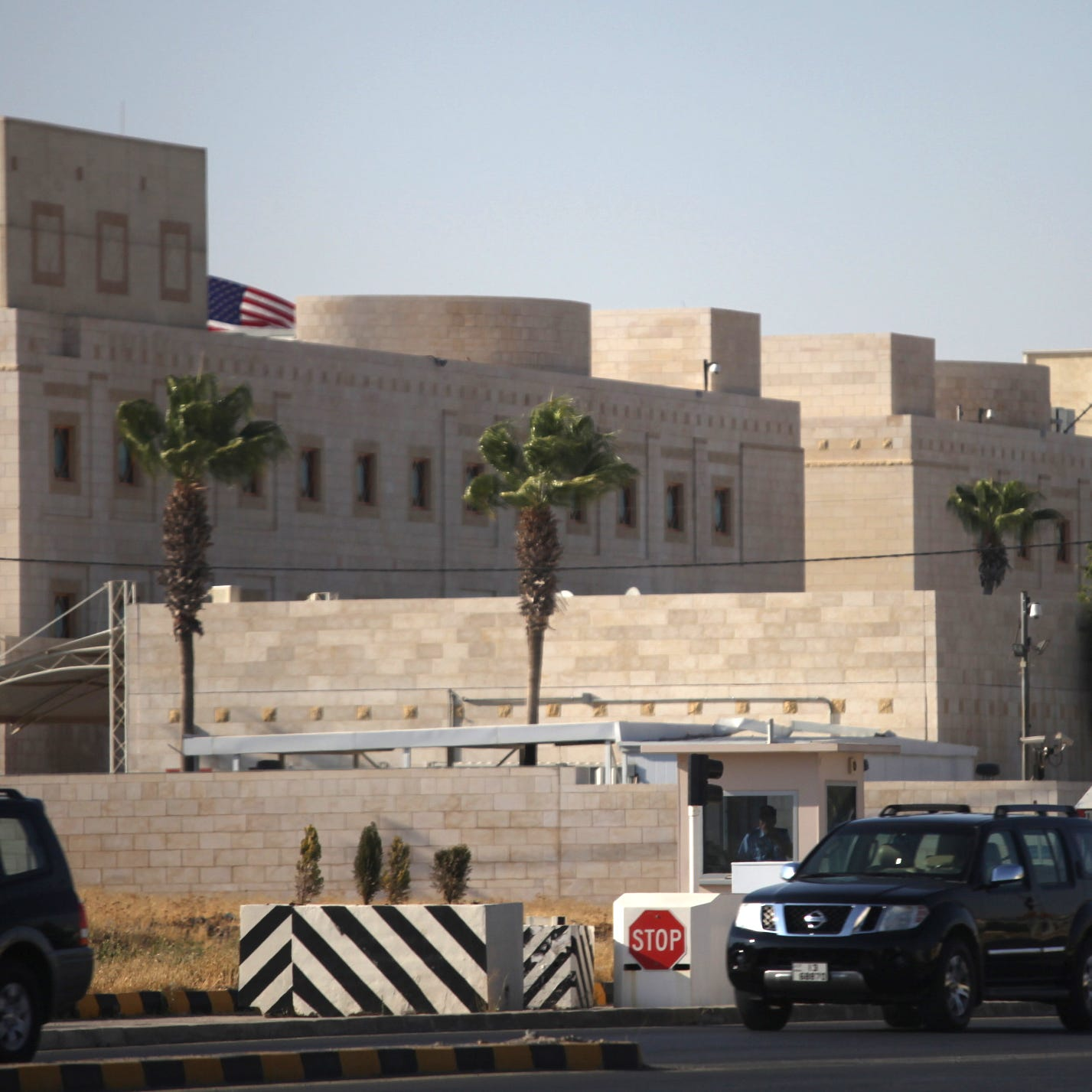 A general view of the U.S. embassy in Amman, Jordan, on Tuesday.