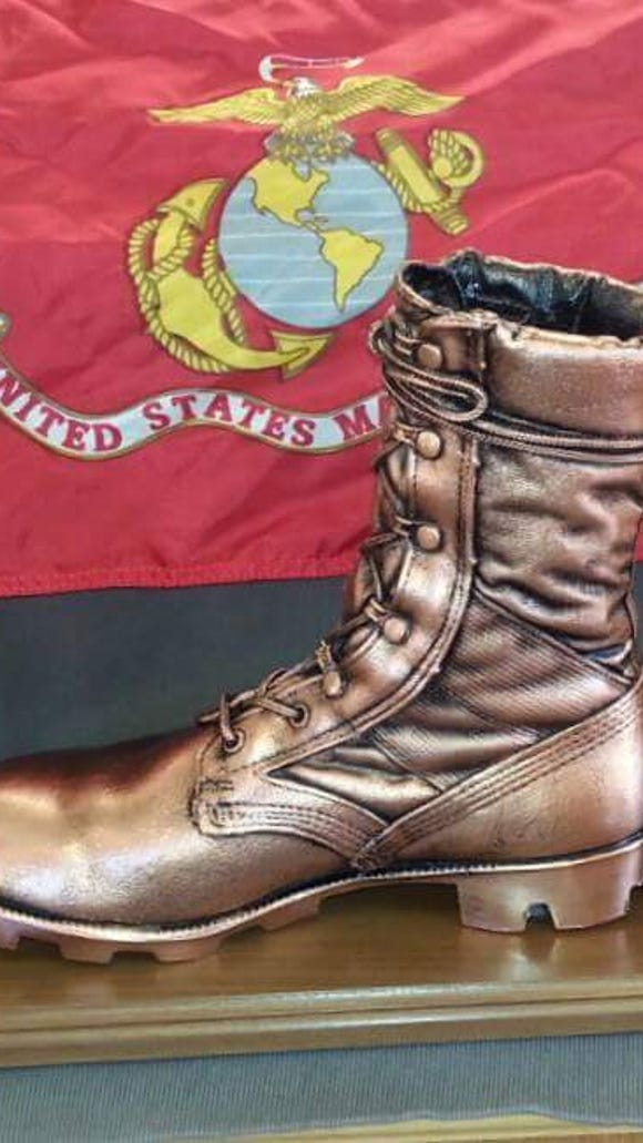 A bronzed Marine boot will go to the winners of the male and female races of the Marine Run 5K.