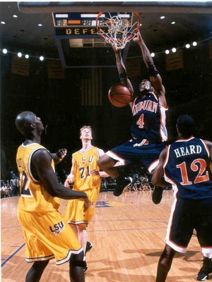 Chris Porter had a monster double-double (26 points, 14 board) in Auburn's 73-70 comeback win at LSU in 1998-99.