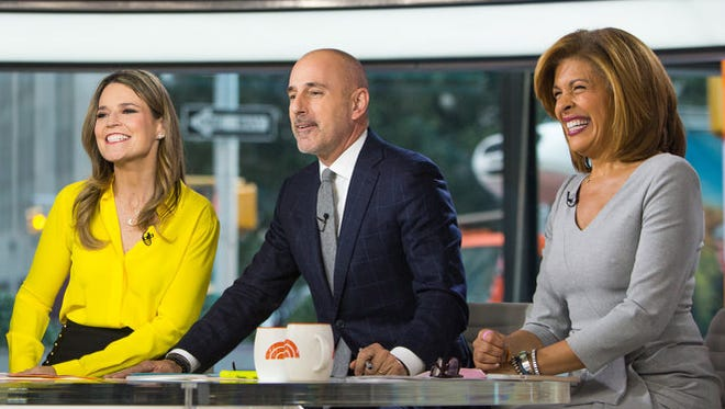 """To the people I have hurt, I am truly sorry,"" former 'Today' co-anchor Matt Lauer, with Savannah Guthrie, left, and Hoda Kotb said in a statement."
