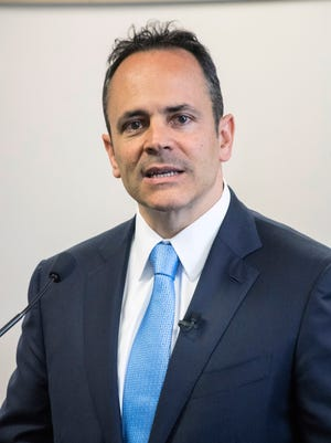 Gov. Matt Bevin implored members of the media to spread the word about opportunities for youth in foster care as he launched his Fostering Success program on Tuesday morning at the L&N Building on Broadway. 5/31/16