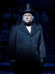 Steve Hendrickson as Ebenezer Scrooge in Geva Theatre