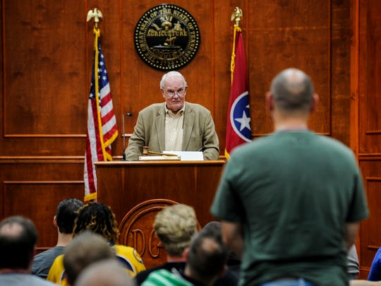 Criminal Court Judge Seth Norman addresses the Davidson County Drug Court on Feb. 28, 2017. Norman began his treatment court in 1995.