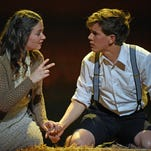 """Sandra Mae Frank, center in the cast of Deaf West Theatre's """"Spring Awakening"""" that is set to open on Broadway."""