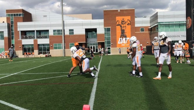 The Tennessee football team held its fourth spring practice on Tuesday and second in pads.