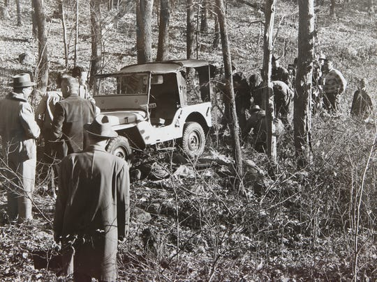 Crime scene photo of the 1952 killing of Ramapo Town