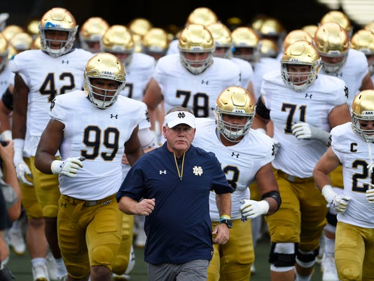 NCAA Football: Notre Dame at North Carolina