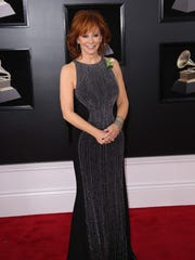 Reba McEntire arrives at the 60th Annual Grammy Awards at Madison Square Garden.