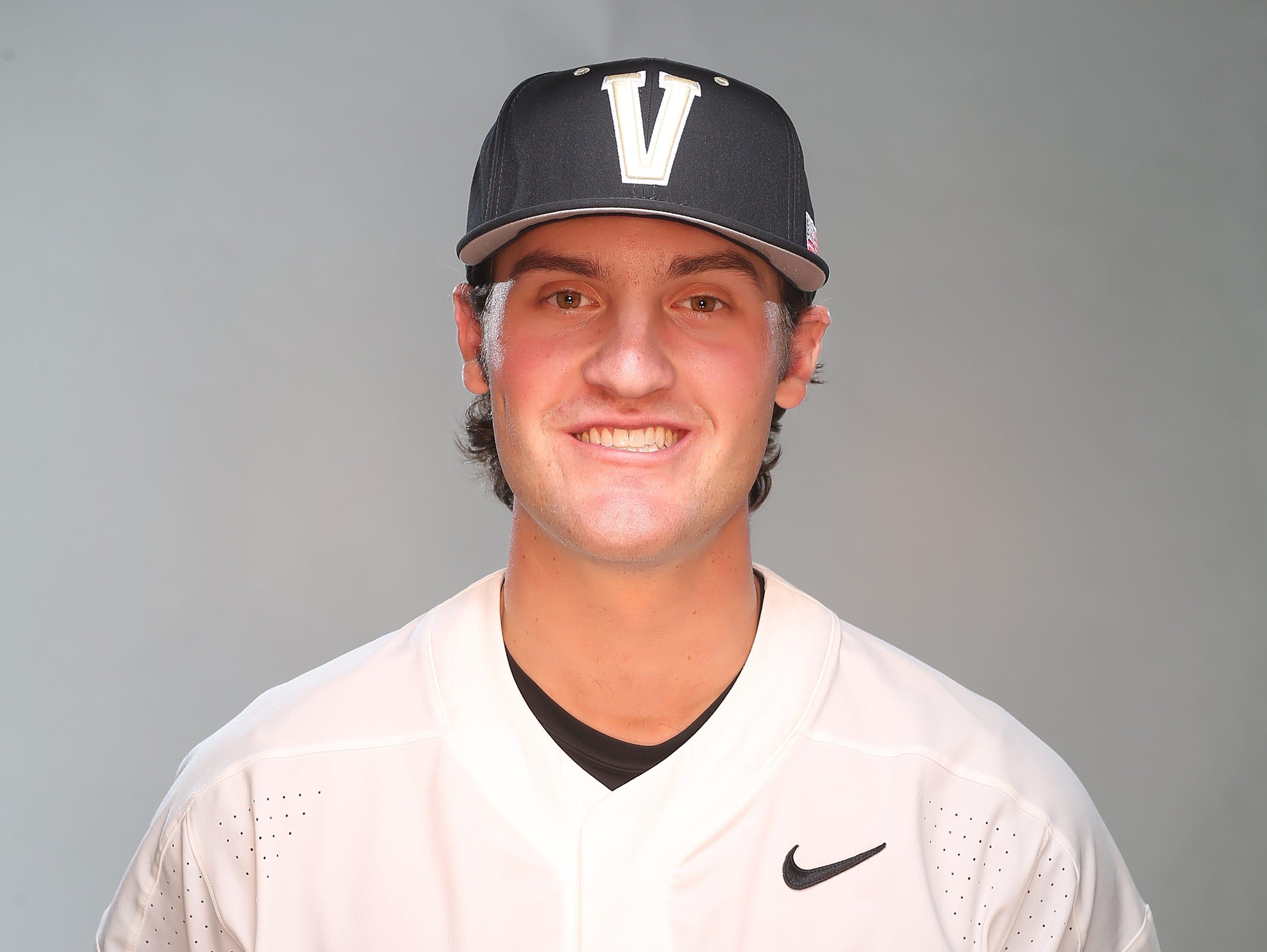 Vanderbilt baseball player Julian Infante in 2017.
