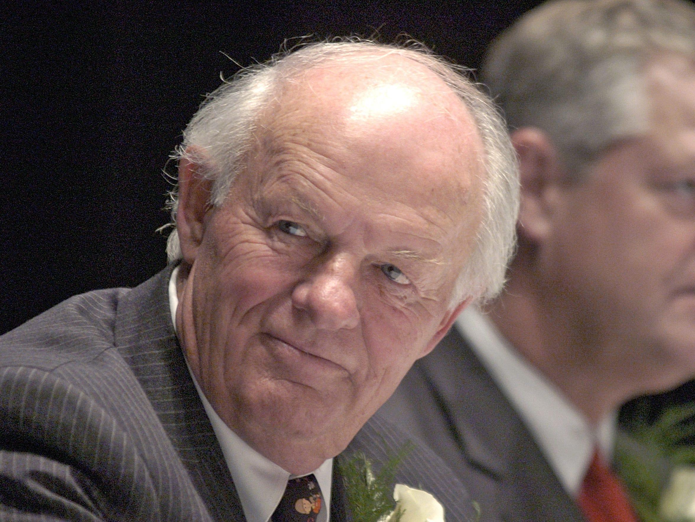 T. Denny Sanford help announce a $400 million donation