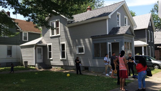 A residence in the 1000 block of Cascade Street in Erie is shown where police said a woman used a knife and a hammer to injure her boyfriend during a domestic dispute. The woman suffered minor injuries. Police took the man and the woman into custody.