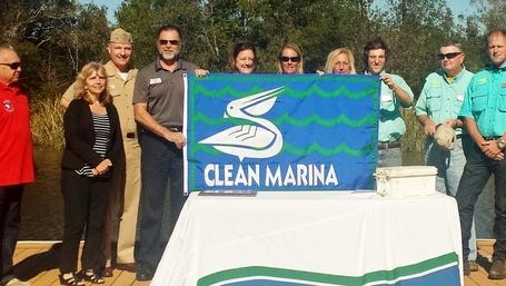 The Florida Department of Environmental Protection joined the Clean Boating Partnership to recognize Naval Air Station Whiting Field's Whiting Park Marina for its commitment to environmental stewardship and the protection of Florida's waterways.