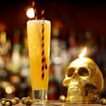 At South Water Kitchen in Chicago, bartender Dan Rook riffs on a classic 'Zombie' with the Whitewalker, composed of Banks 7 Rum, Cana Brava Rum, fresh pineapple juice, cinnamon syrup, fresh lemon juice and simple syrup.
