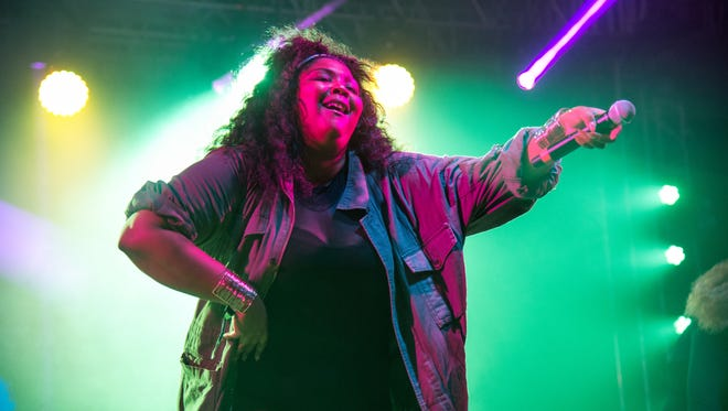 Lizzo performs at Bonnaroo Music and Arts Festival on Thursday, June 9, 2016, in Manchester, Tenn. (Photo by Amy Harris/Invision/AP)