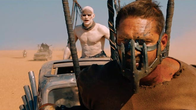 """""""What a lovely, lovely day!""""  Tom Hardy stars in George Miller's """"Mad Max: Fury Road."""""""