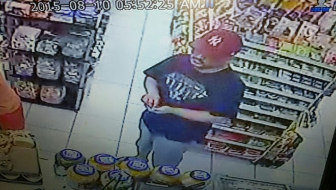 Police released this photo of a man suspected of robbing Cosco Mart in Maina Monday morning.