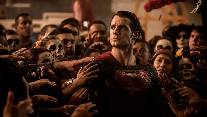 """""""Batman v. Superman: Dawn of Justice"""" (PG-13): People have been nuts for this since a trailer leaked. Henry Cavill returns as the Man of Steel, but now the world is worried about his unchecked power, which seems kind of weird, but whatever. So Batman (Ben Affleck) decides to do something about it. Wonder Woman (Gal Gadot) and Aquaman (Jason Momoa) are thrown in for good measure. Super-hero party! Though by the dark look, maybe not."""