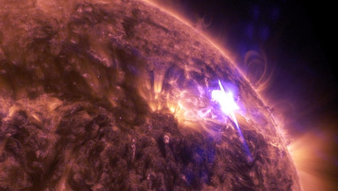 A solar flare caused short radio blackouts earlier this month.