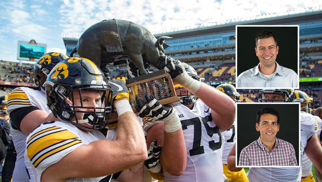 The Hawkeyes beat Minnesota Saturday and retained Floyd of Rosedale. They face Purdue this week.