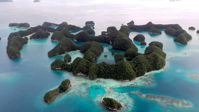 The most photographed cluster of the Rock Islands is the 70 Islands, and you've probably seen them in Palau's tourism brochures, magazines, billboards and postcards.