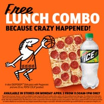 Since UMBC upset Virginia in the NCAA Tournament, you get free pizza!