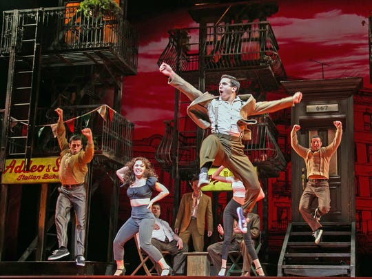 """The company of """"A Bronx Tale: The Musical"""" at Paper Mill Playhouse."""