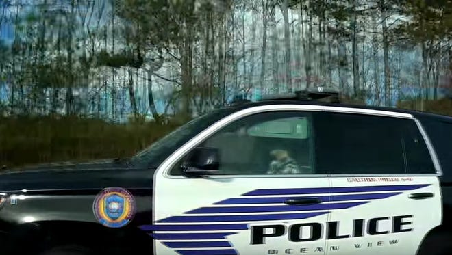 A screenshot from a YouTube video alleging an Ocean View officer was speeding in his patrol car while in North Carolina in November 2015.