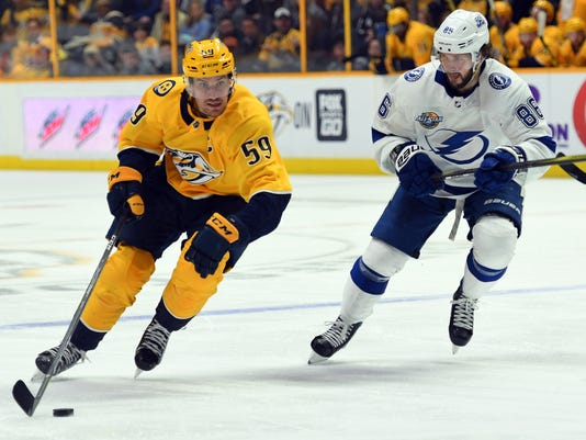 NHL: Tampa Bay Lightning at Nashville Predators
