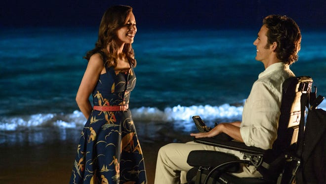 """Sam Claflin (The Huntsman, Hunger Games) and Emilia Clarke (Game of Thrones) star in the drama """"Me Before You."""""""