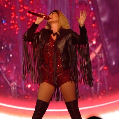 Shania Twain performs at the YUM! Center.  August 03,