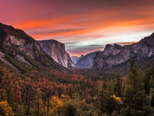Yosemite National Park - 4,336,890: First protected