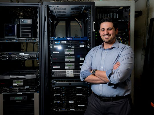 Yanal Saleh, the technical coordinator, shown in the server room at Manchester Regional High School on Wednesday, Jan. 11, 2017 in Haledon, NJ.  Saleh was named Educational Services Professional of the Year.