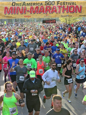 Are you ready? This is what the start of the 2015 OneAmerica 500 Festival Mini-Marathon looked like.