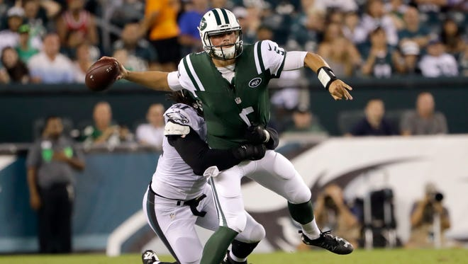 Quarterback Christian Hackenberg will have the chance to win the starting job in his second year in the league.