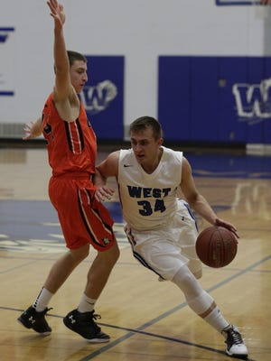 West's Jack Gabrielson comes into Friday's contest averaging 14 points a game.