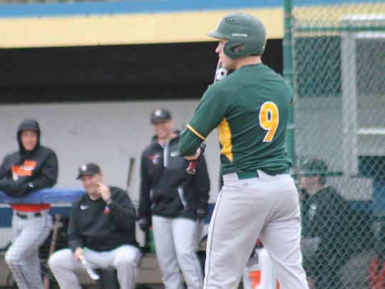 McNicholas senior Jackson Haas steps to the plate for