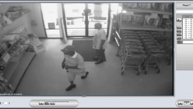 Surveillance footage from the Fred's store in Prattville captured two suspects in a cigarette theft May 25.