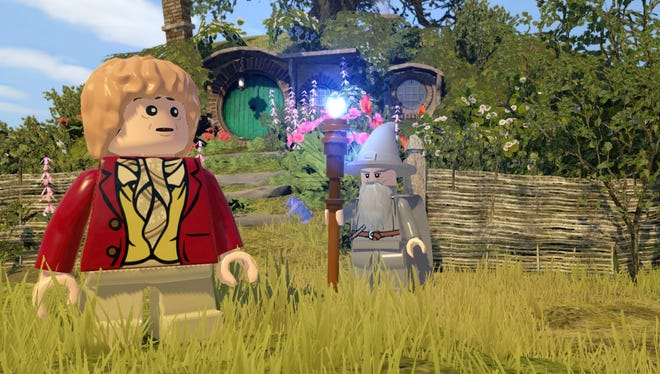 """Journey there and back again in the """"Lego The Hobbit"""" video game for consoles."""