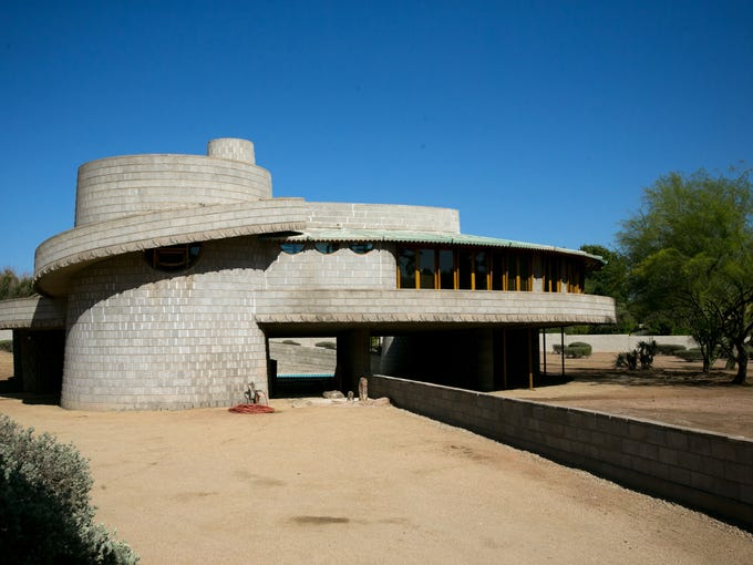 The Frank Lloyd Wright-designed house built for David and Gladys Wright in Phoenix.