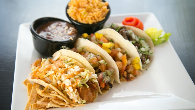 Beach Tacos at the Beach Club Cantina restaurant at the Park West Mall in Peoria.