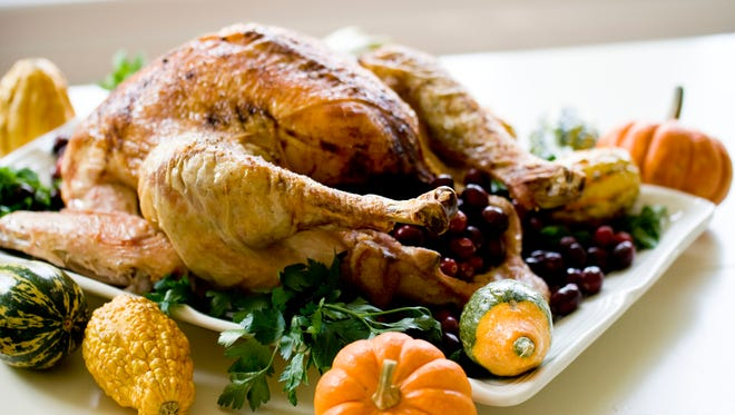 """This Oct. 21, 2013 photo shows a """"back to basics"""" turkey in Concord, N.H. The recipe is so basic, it calls for just four ingredients."""