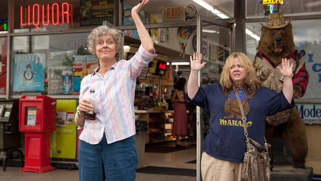 """This image released by Warner Bros. Pictures shows Susan Sarandon, left, and Melissa McCarthy in a scene from """"Tammy."""""""