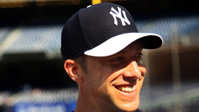 New Yankees left-hander Chris Capuano is shown prior to the game against the Toronto Blue Jays at Yankee Stadium Friday night.