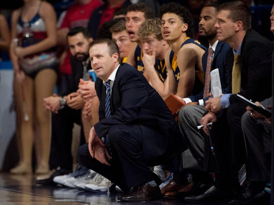 Northern Colorado coach Jeff Linder, shown during a Nov. 21, 2016 game at Arizona, was a top assistant at Boise State for six years under Leon Rice. His UNC team is 19-10 overall this year and 10-6 in the Big Sky Conference.