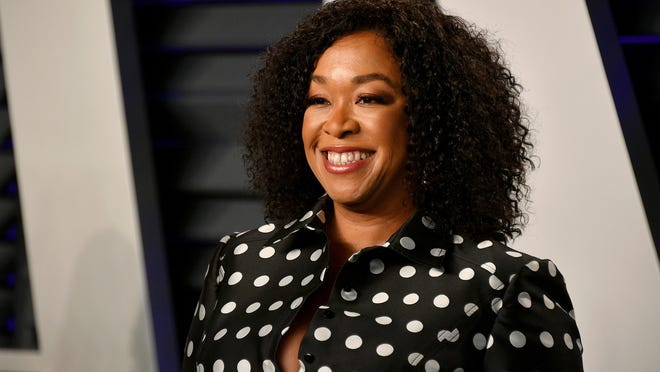 In this file photo, Shonda Rhimes attends the 2019 Vanity Fair Oscar Party hosted by Radhika Jones at Wallis Annenberg Center for the Performing Arts on February 24, 2019 in Beverly Hills, CA. Shondaland Audio and iHeartMedia are teaming up for three new original podcasts this month, with more to come in the months ahead.