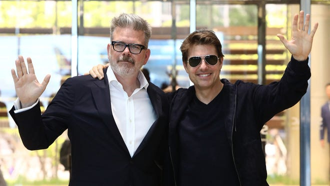 "Director Christopher McQuarrie and Tom Cruise arrive in support of the ""Mission: Impossible - Fallout"" World Press Tour in 2018 in Seoul, South Korea."
