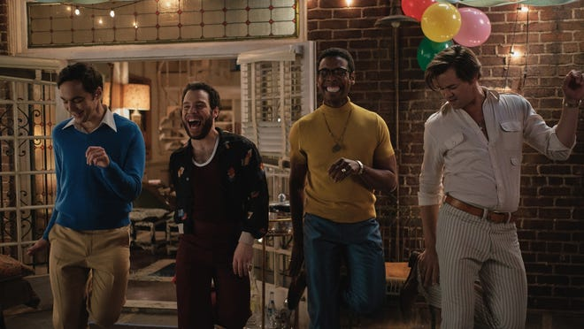 "From left, Jim Parsons, left, Robin De Jesus, Michael Benjamin Washington and Andrew Rannells are among the cast of ""The Boys in the Band."""