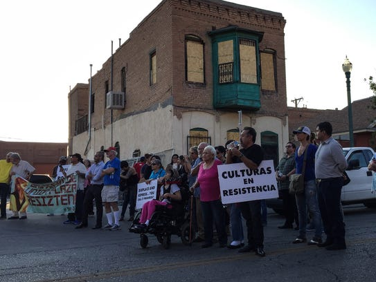 Preservationists and others who oppose the city's plan