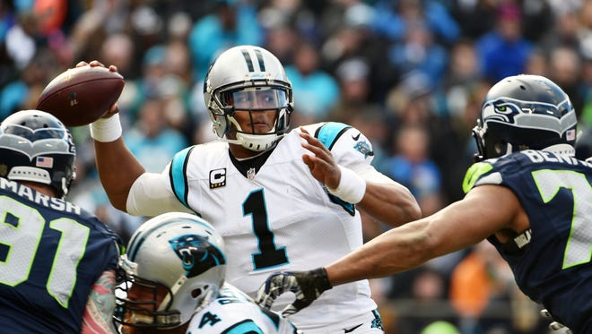 Panthers QB Cam Newton notched his second playoff win Sunday.