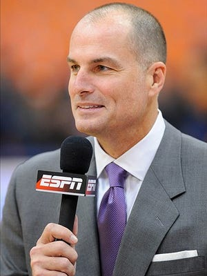 """ESPN broadcaster Jay Bilas, seen here in 2013, was at Iowa-Michigan State on Thursday. Bilas said that while Iowa believes it can beat every team in the Big Ten """"... until they do it, there's always going to be that little bit of doubt."""""""
